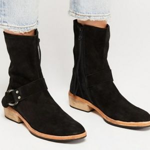Free People  Vienna Suede Ankle Boots